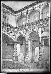 Hôtel Bernuy - Dessin, portique cour