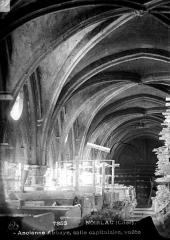 Ancienne abbaye de Noirlac - Voûte, salle capitulaire