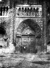 Eglise Saint-Nicolas-Saint-Lomer - Portail central de la façade ouest