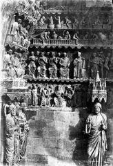 Cathédrale Notre-Dame - Portail du Jugement dernier au transept nord : tympan