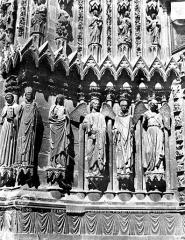 Cathédrale Notre-Dame - Portail nord de la façade ouest : ébrasement gauche