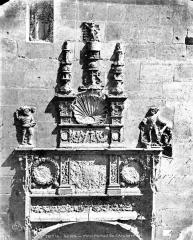 Ancien archevêché ou ancien palais archiépiscopal - Petit portail (partie haute du panorama)