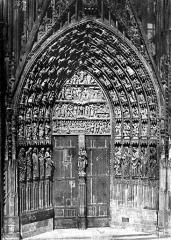 Cathédrale Notre-Dame - Portail central de la façade ouest
