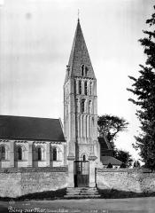 Eglise - Clocher, côté sud-ouest