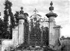 Château de Brécy - Grille, piliers