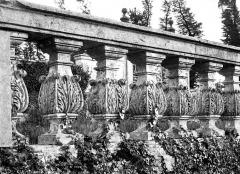 Château de Brécy - Balustrade sculptée