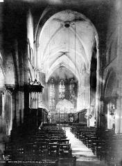 Eglise Saint-Maclou - Nef, vue de l'entrée