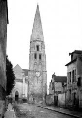 Abbaye Saint-Germain - Eglise, façade  ouest