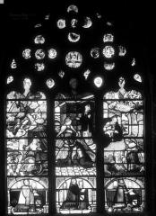 Château de la Barge - Chapelle, vitrail : L'Annonciation, la Visitation et la Nativité