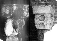 Ancienne abbatiale Saint-Pierre de Flavigny - Chapiteaux de la crypte
