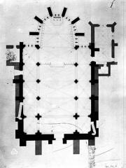 Ancienne abbaye - Dessin de l'église