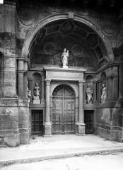 Eglise Saint-Pierre-ès-Liens de Riceys-Bas - Portail ouest, porte centrale