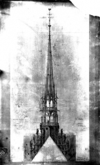 Cathédrale Notre-Dame - Flèche, relevé
