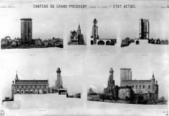 Château du Grand Pressigny - Elévations et coupes (état actuel)