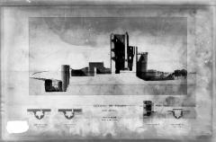 Château et son enceinte - Vieux Château : Coupe