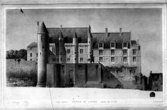 Château et son enceinte - Logis Royal : Elévation de la façade est