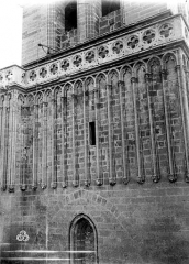 Ancienne cathédrale Saint-Nazaire et cloître Saint-Nazaire - Clocher, arcatures aveugles