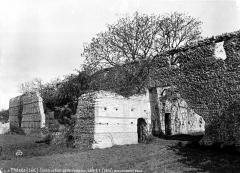 Ruines romaines des Mazelles - Monument gallo-romain : Mur côté sud-est
