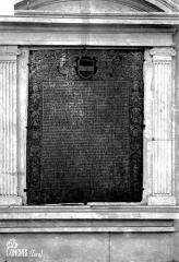 Eglise Sainte-Foy - Inscription