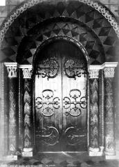 Ancien évêché ou Palais du Tau - Salle synodale : Porte intérieure