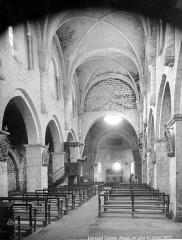 Eglise abbatiale Sainte-Marie - Nef, vue de l'entrée