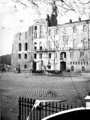 Domaine national de Saint-Germain-en-Laye, actuellement Musée des Antiquités Nationales - Façade ouest, avant restauration