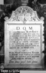Eglise Saint-Eloi - Pierre tombale de Jean Bart