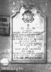 Eglise Saint-Eloi - Pierre tombale de Corneille Bart