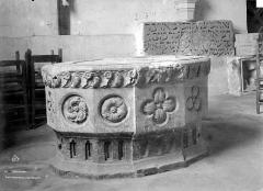 Eglise Saint-Aubin - Cuve baptismale