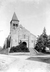 Eglise Saint-Menoux - Façade ouest