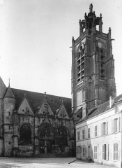 Eglise Saint-Laurent - Façade nord, clocher