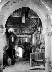 Ancienne église de Sainte-Marie-aux-Anglais - Nef, vue du choeur