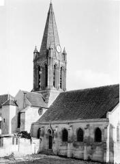 Eglise Saint-Maclou - Face nord, clocher
