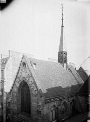 Ancien collège de Beauvais, actuelle église orthodoxe roumaine - Chapelle, pignon et toiture au sud-ouest