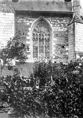 Eglise Saint-Aubin - Fenêtre rue, extérieur