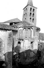 Ancienne abbaye de Saint-Papoul - Abside et clocher, côté est
