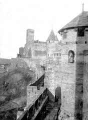 Cité de Carcassonnne - Remparts, de la tour des Wisigoths à la tour de l'Evêque
