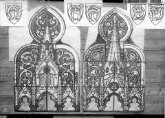 Domaine de la chapelle royale Saint-Louis - Dessin : Vitrail de la chapelle