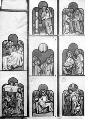 Cathédrale Saint-Pierre - Reproduction d'un dessin de Viollet-le-Duc, vitrail exécuté par la manufacture de Sèvres