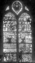 Eglise Saint-Nicolas - Vitrail : Le Jugement dernier