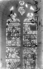 Eglise Saint-Nicolas - Vitrail : Annonciation, Nativité, Adoration des mages, Présentation au temple