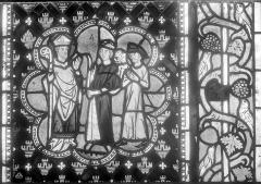 Cathédrale et cloître - Vitrail : Légende de saint Dié