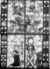 Eglise Sainte-Radegonde - Vitrail : Scènes légendaires