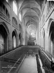 Cathédrale Sainte-Marie - Vue intérieure de la nef, vers l'entrée