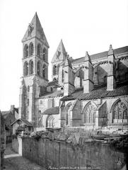 Cathédrale Saint-Lazare - Façade sud : partie ouest et clocher