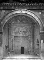 Cathédrale Notre-Dame-des-Doms - Porche de la façade ouest : Grande porte