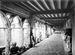 Cathédrale Saint-Pierre - Cloître : vue intérieure d'une galerie
