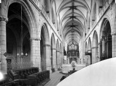Cathédrale Saint-Jean-Baptiste - Vue intérieure de la nef, vers l'entrée