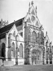 Ancienne abbaye de Brou - Eglise : Façade ouest