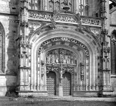 Ancienne abbaye de Brou - Eglise : Portail de la façade ouest